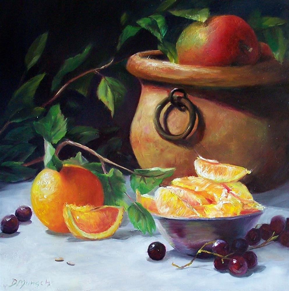 """Orange Slices"" original fine art by Donna Munsch"