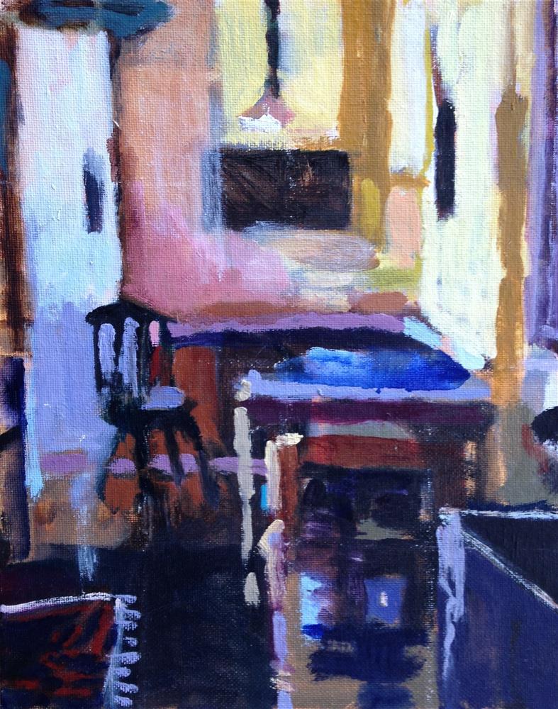 """""""Kitchen Interior-Jan 2016 I"""" original fine art by Pamela Hoffmeister"""