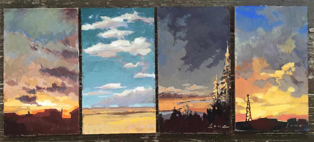 """""""Wyoming Series (All Four Paintings)"""" original fine art by Chris Long"""