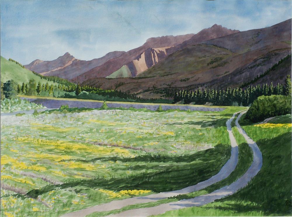 """""""Jones Creek Valley"""" original fine art by Greg Arens"""