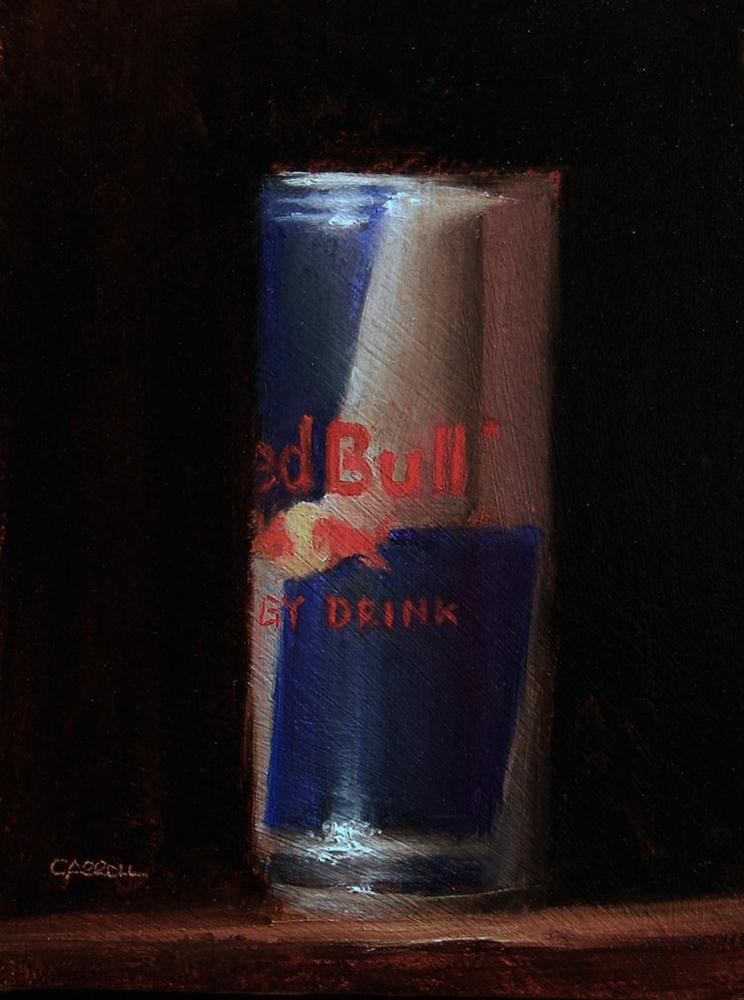 """Red Bull - study"" original fine art by Neil Carroll"