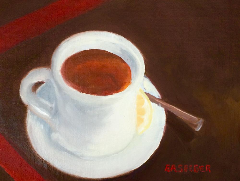 """Cup of Tea 30 paintings in 30 days one"" original fine art by Elisabeth Seeger"