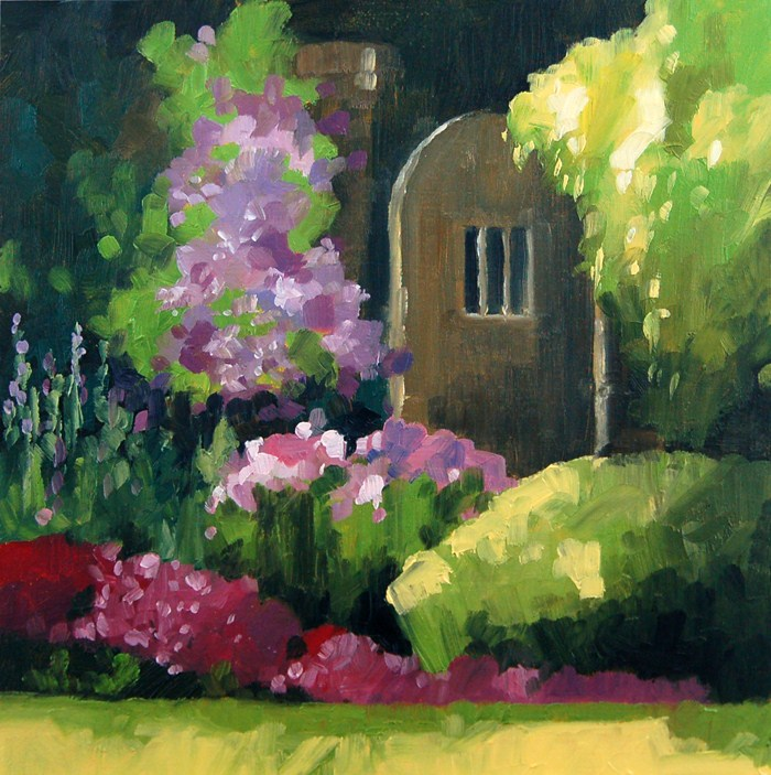 """No 445 Garden Door"" original fine art by Robin J Mitchell"