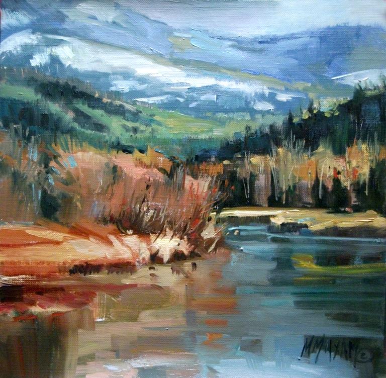 """Fall Into Winter II"" original fine art by Mary Maxam"