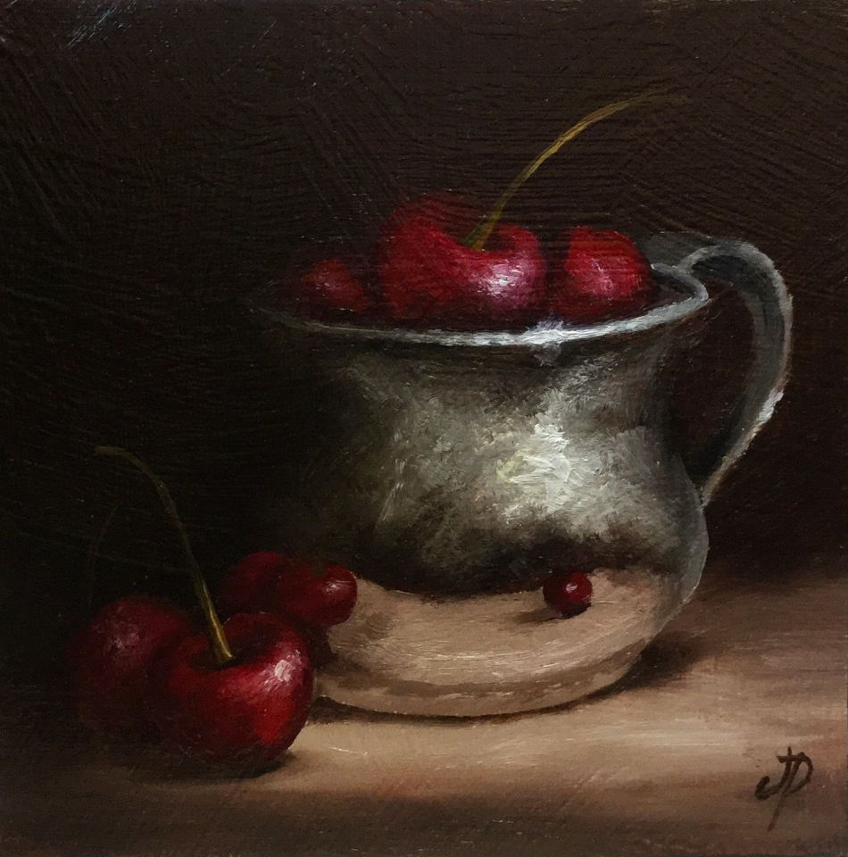 """Cherry cup #11"" original fine art by Jane Palmer"