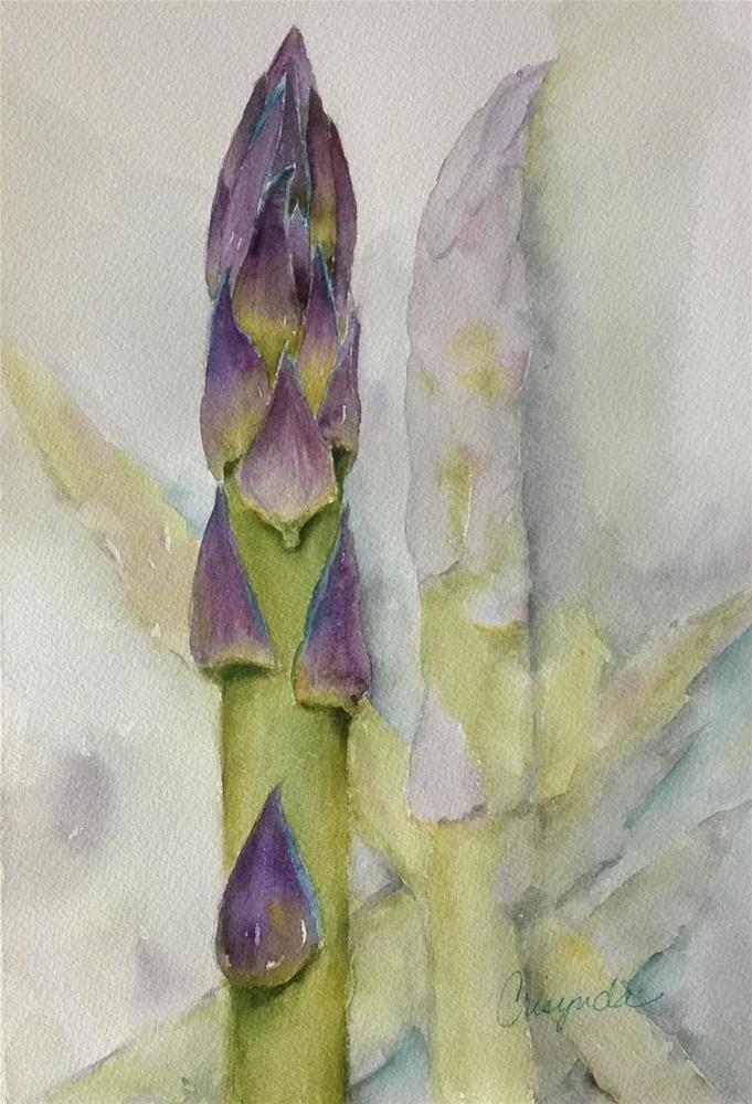 """Asparagus"" original fine art by Crisynda Buss"