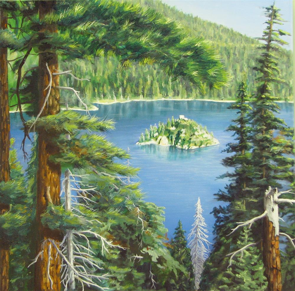 """Emerald Bay"" original fine art by John F McGowan"