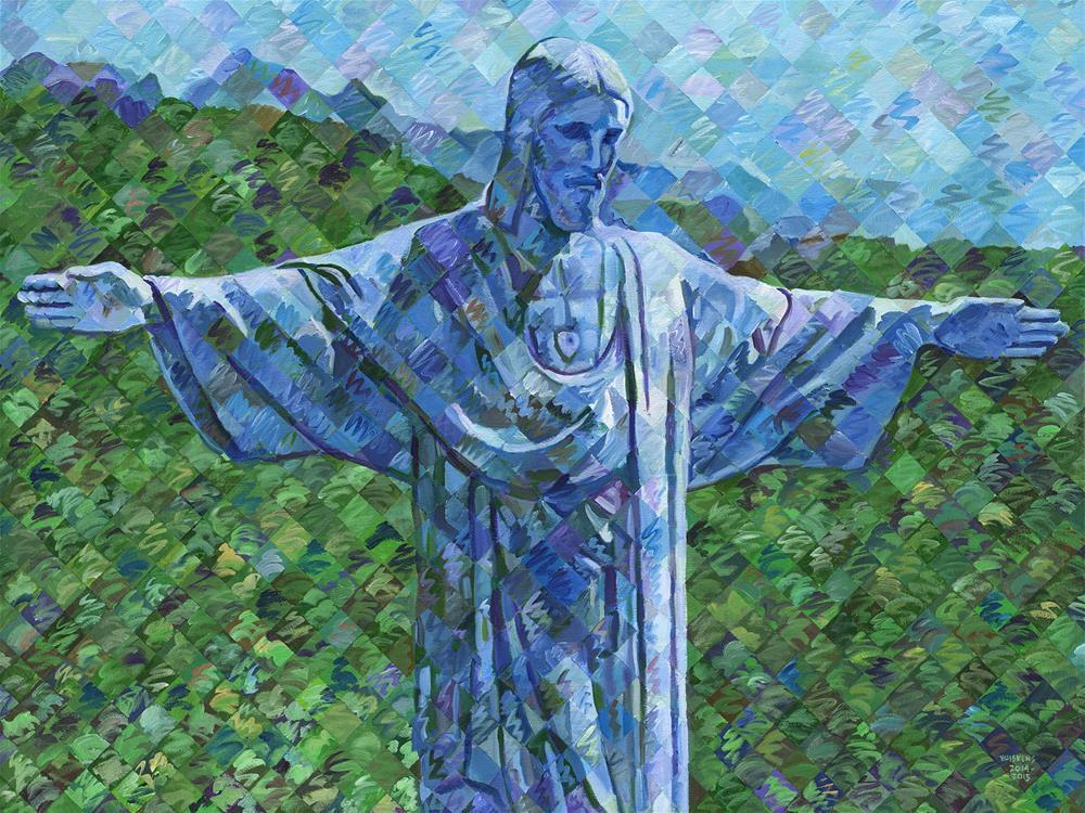 """""""Christ The Redeemer"""" original fine art by Randal Huiskens"""