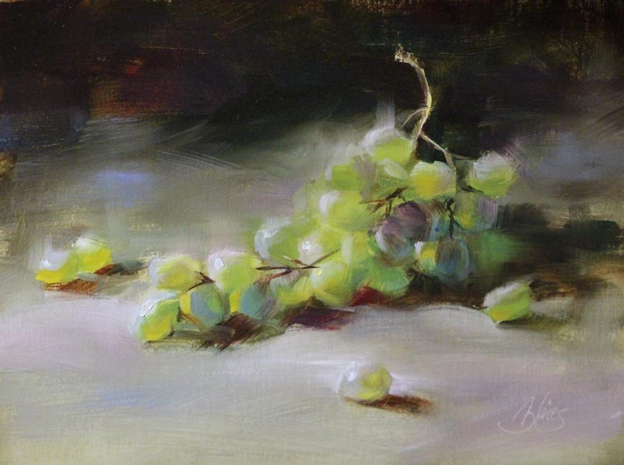 """Green Grapes"" original fine art by Pamela Blaies"