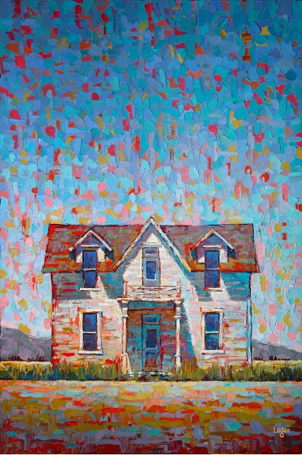 """Enos Farm House - The Front"" original fine art by Raymond Logan"