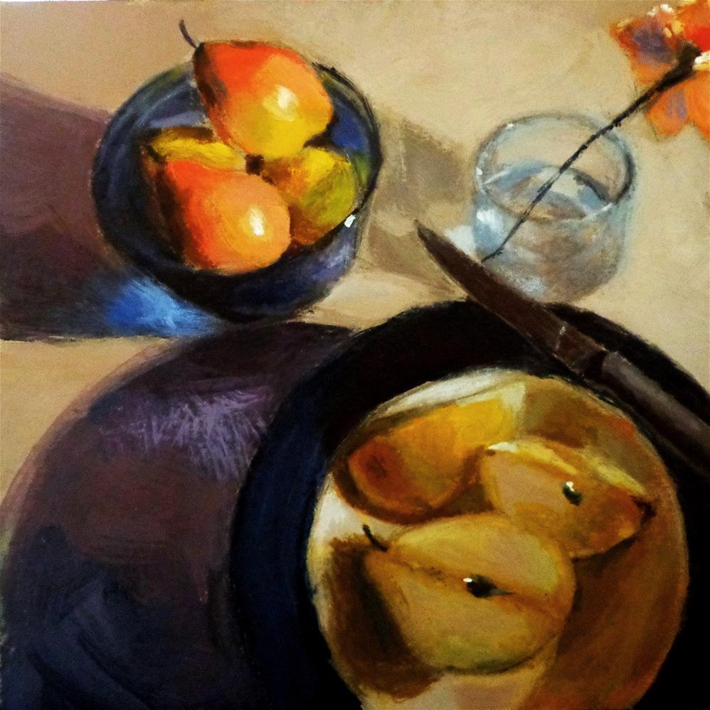 """Pears"" original fine art by Maria Z."