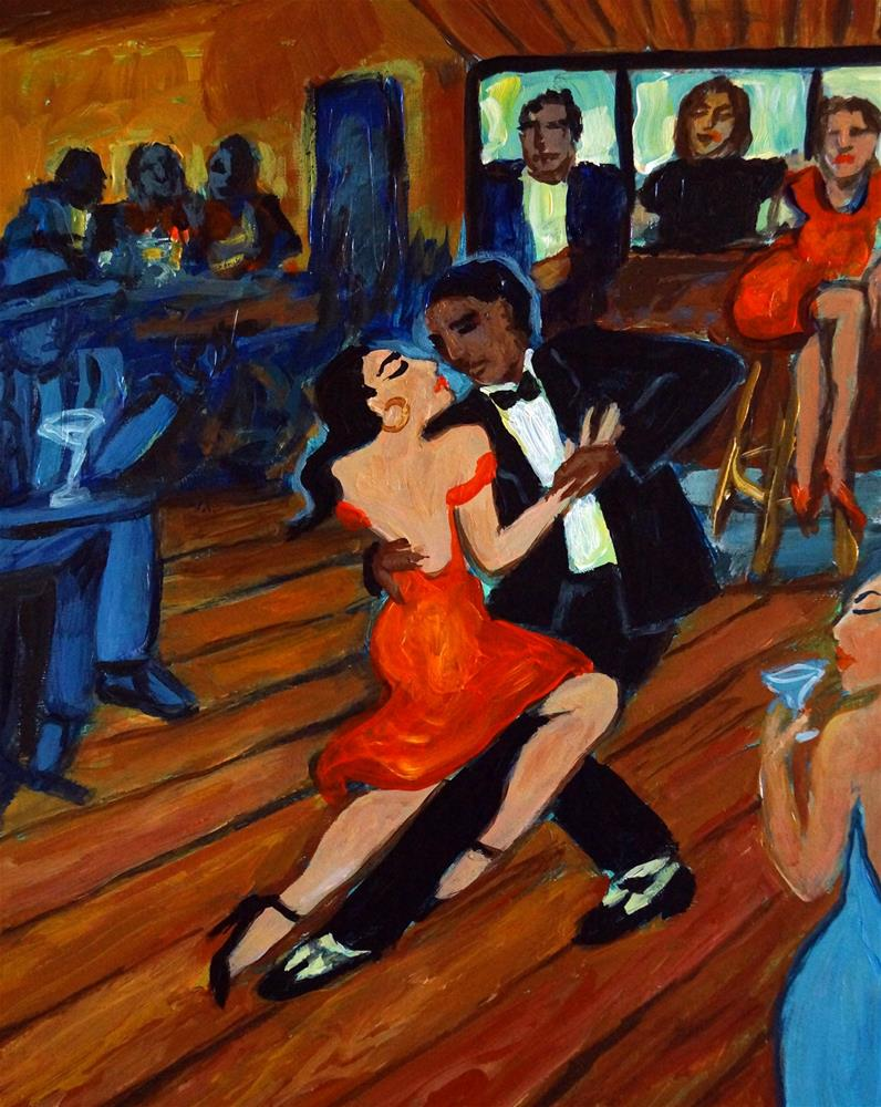 """Red Hot Tango"" original fine art by Valerie Vescovi"