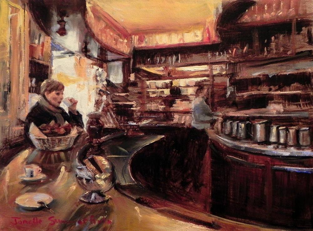 """""""Morning Coffee"""" original fine art by Jonelle Summerfield"""