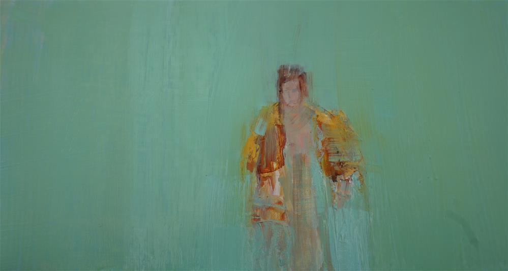 """Girl Walking in Robe 8x12"" original fine art by Deborah R Hill"
