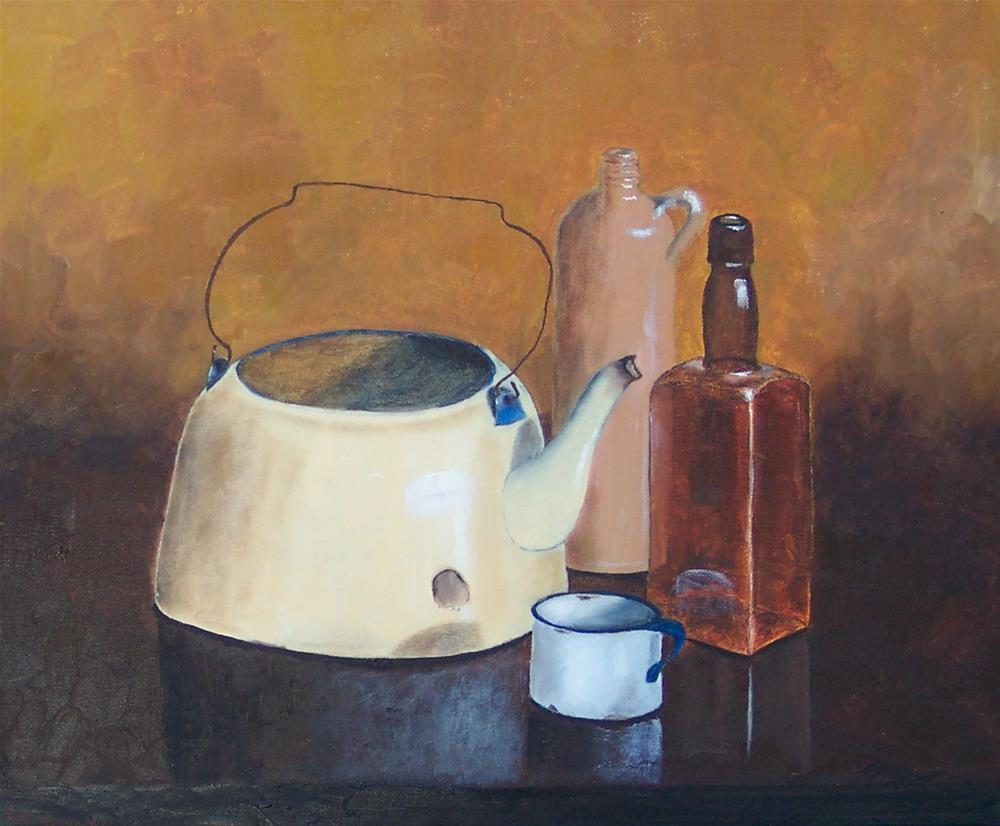 """Coffee, Tea, or Hooch?"" original fine art by Bob Blackmon"