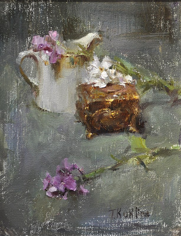 """bronze box"" original fine art by Taisia Kuklina"