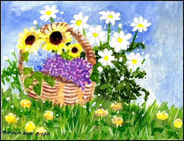 """""""Spring Green"""" original fine art by Patricia Ann Rizzo"""