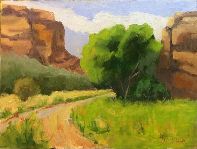 """Red Rocks of Moab"" original fine art by Debbie Dowdle"