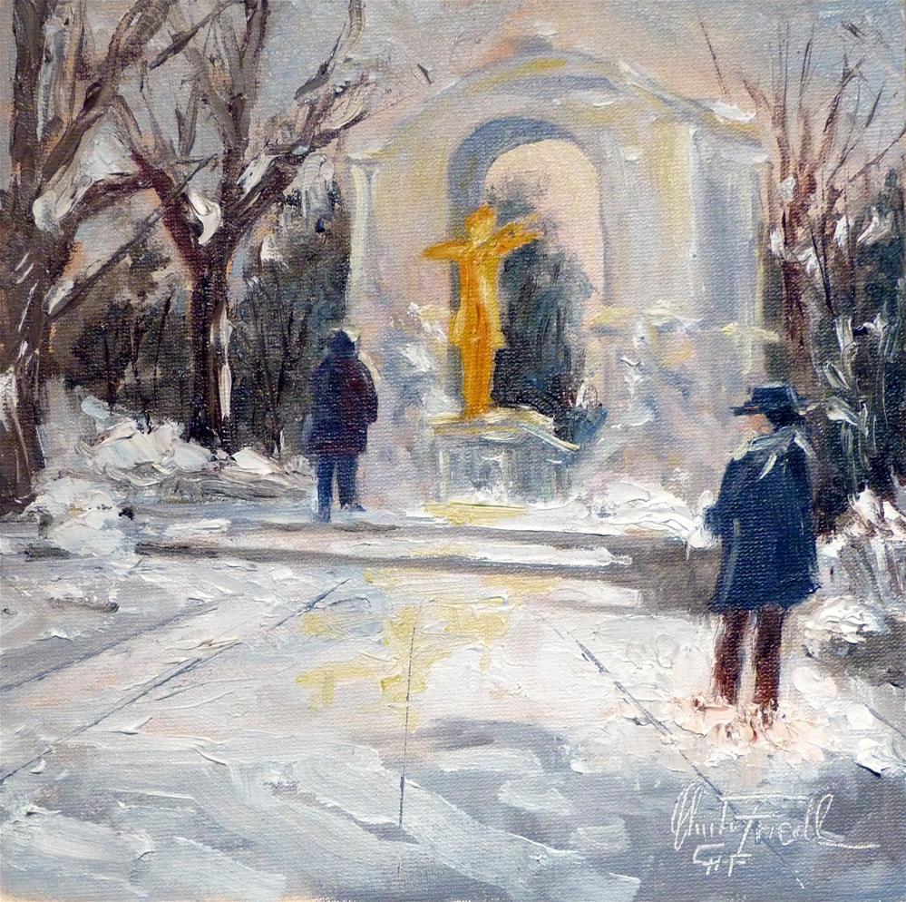 """""""Johann Strauss Memorial-Stadtpark Vienna"""" original fine art by Christa Friedl"""