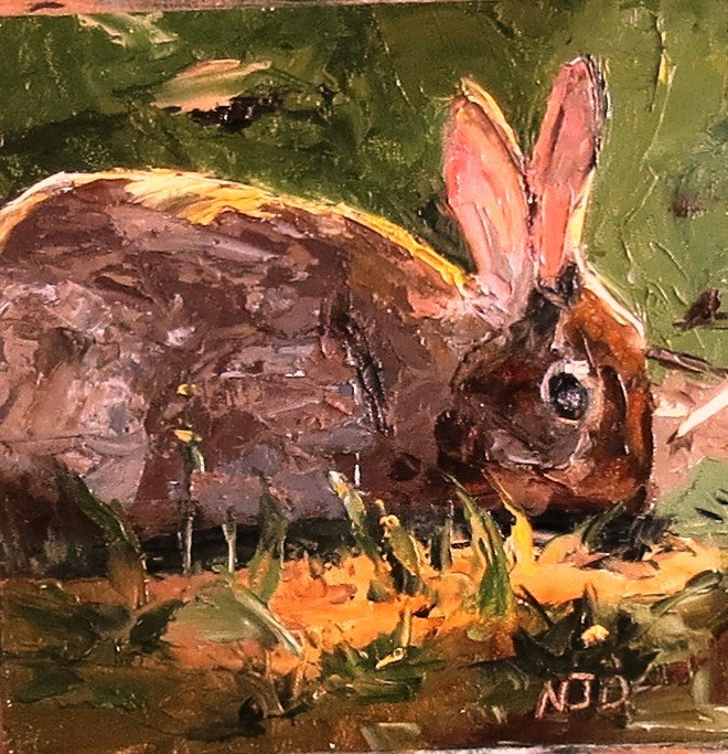 """Rabbit"" original fine art by Nancy Darling"