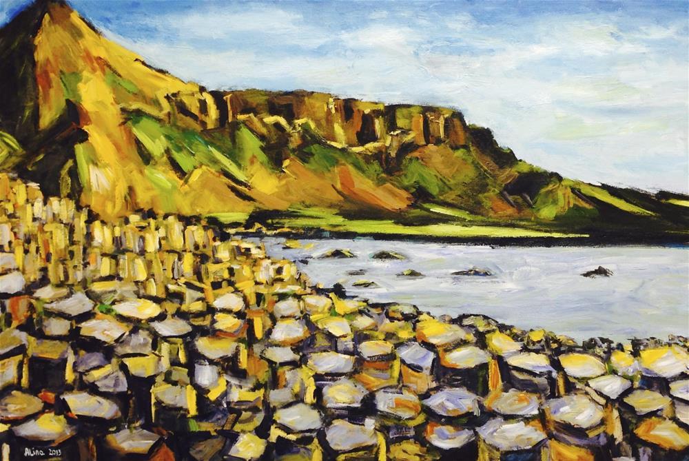 """""""Giant's Causeway"""" original fine art by Alina Vidulescu"""