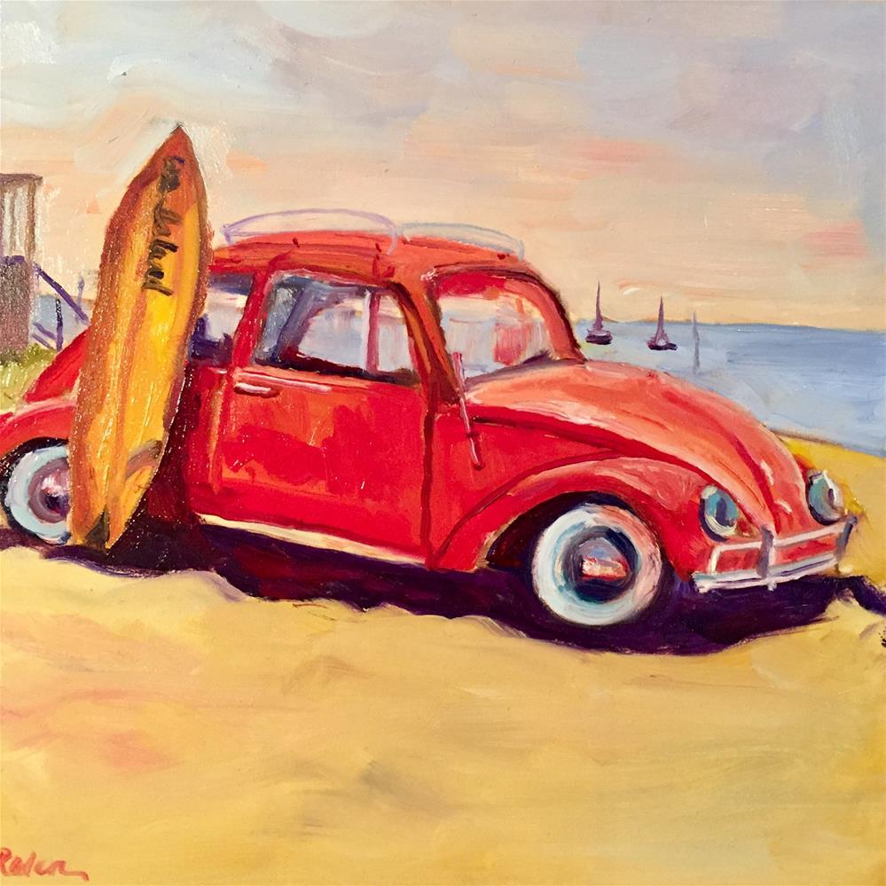 """Surf's Up"" original fine art by Donna Raven"