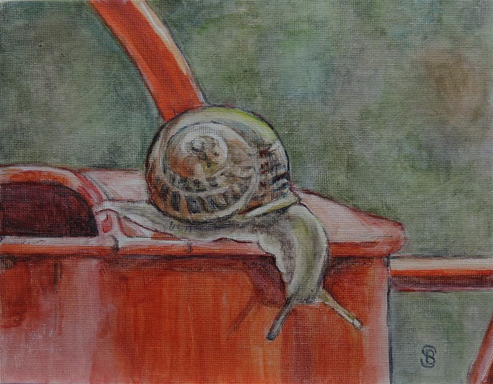 """""""Garden Explorer"""" original fine art by Belinda Scheber"""