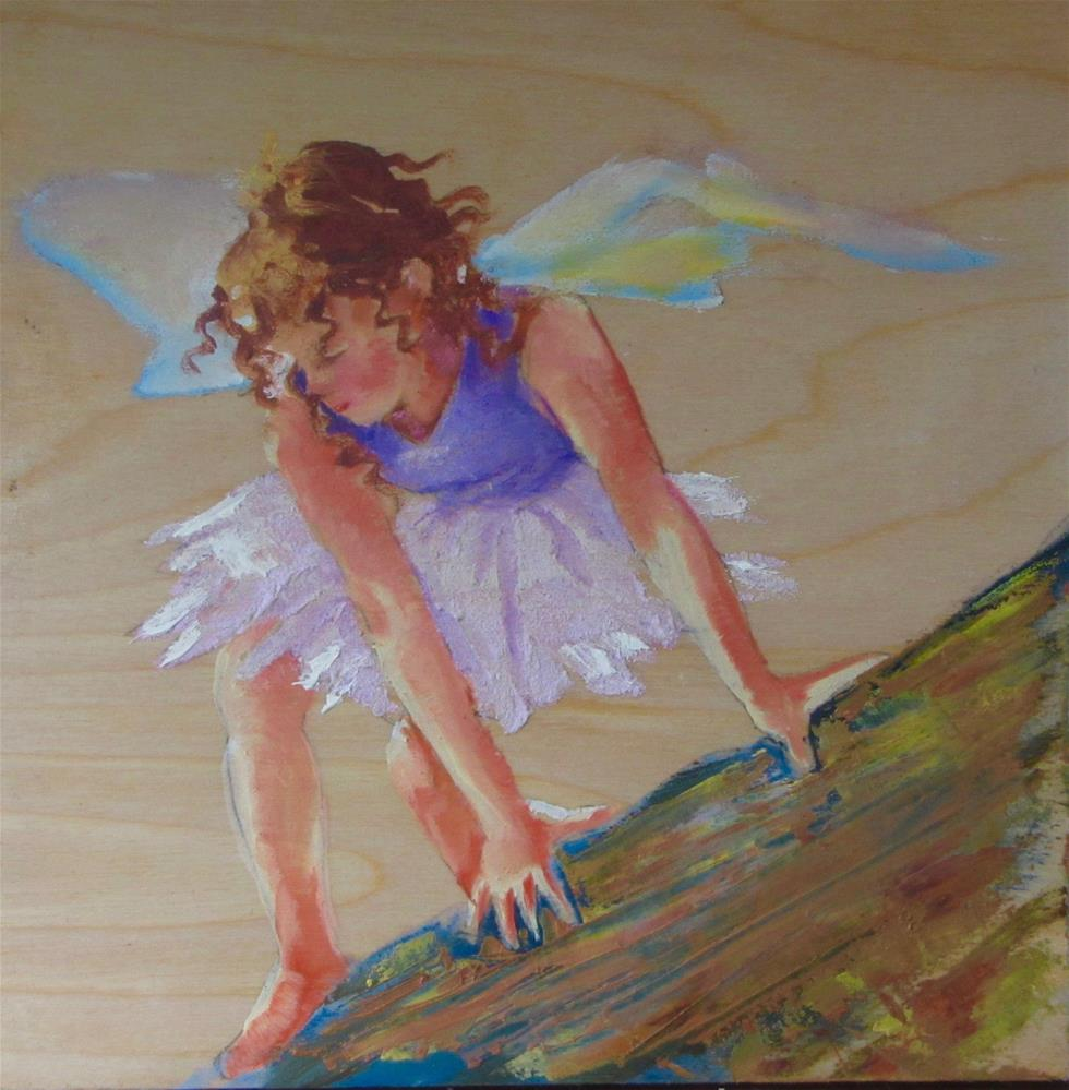 """Beach Fairy"" original fine art by Christine Holzschuh"