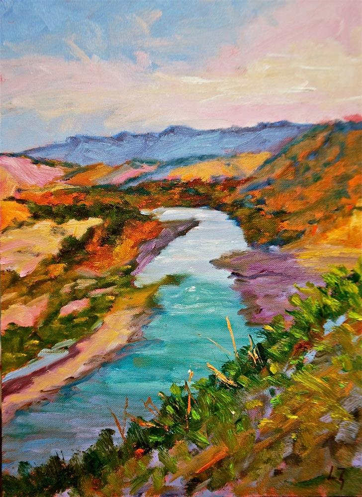 """Big Bend Rio Grande"" original fine art by Liz Zornes"