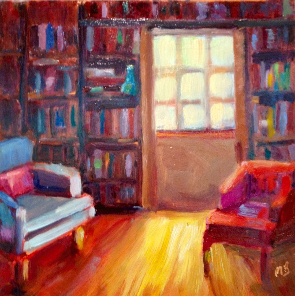 """Reading Room"" original fine art by Marcia Bergtholdt"