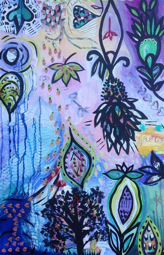 """""""Garden Groove"""" original fine art by Nicole Saunders"""