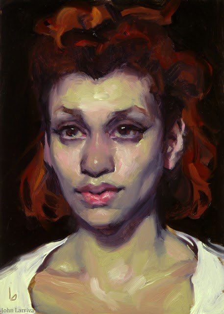 """Halting"" original fine art by John Larriva"