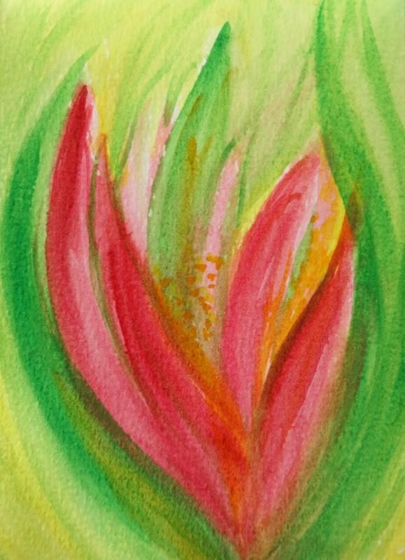 """6010 - Floral Romance"" original fine art by Sea Dean"