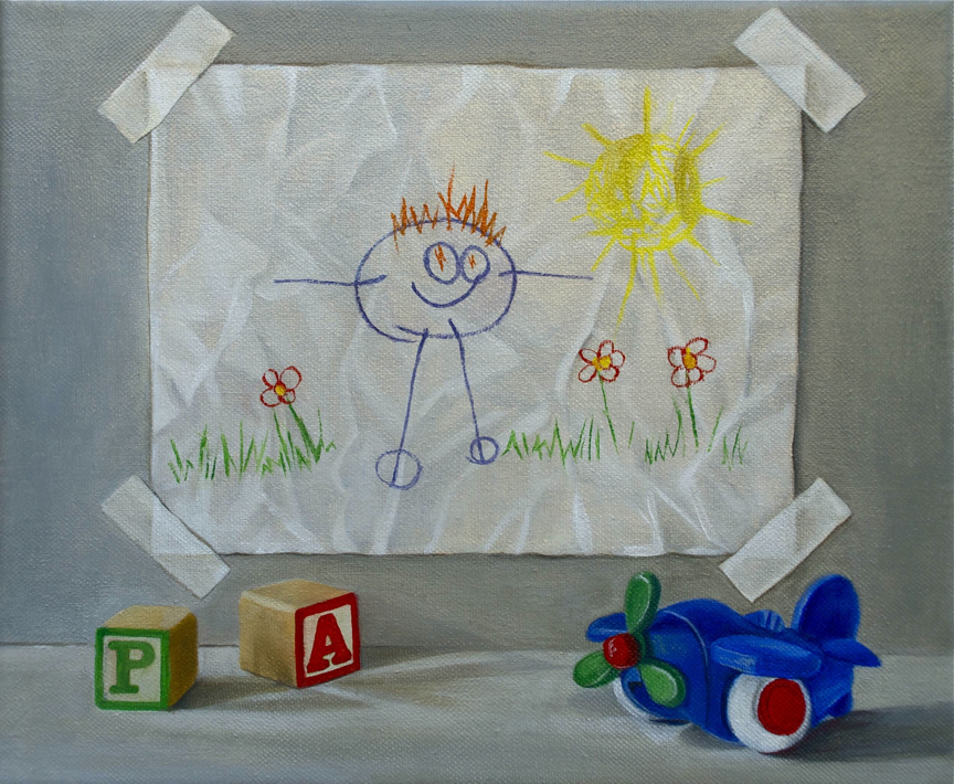 """Self-Portrait"" original fine art by Patti Adams"