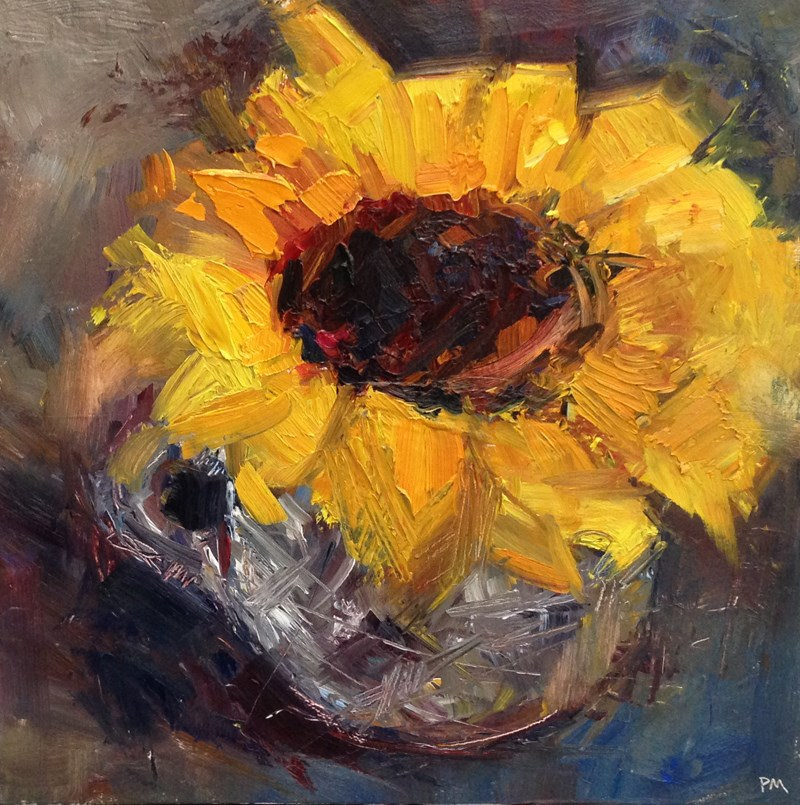 """Sunflower Save"" original fine art by Patti McNutt"