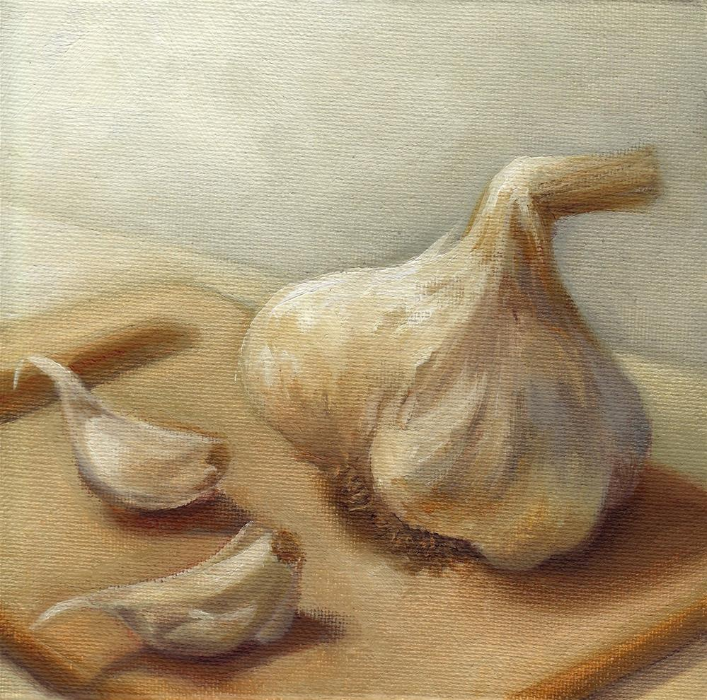 """Garlic"" original fine art by Anne Ducrot"