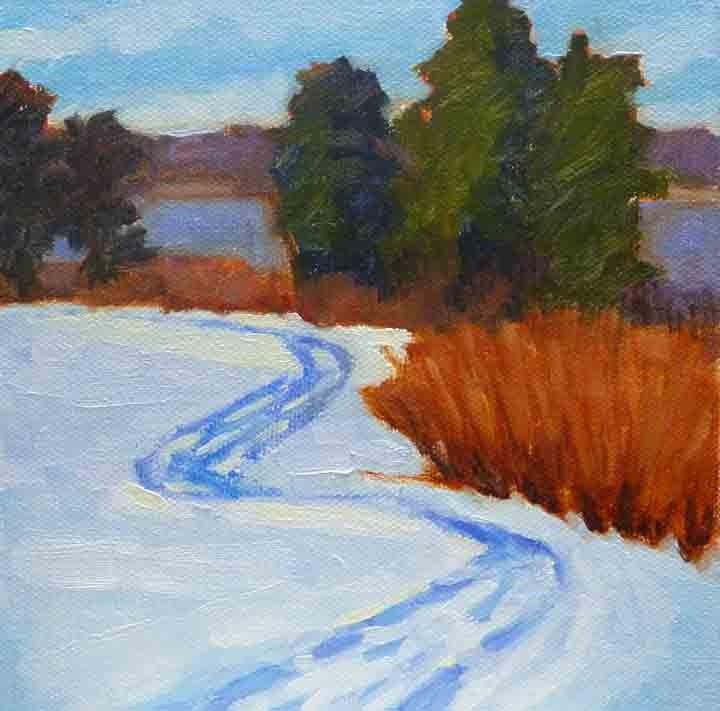 """Gilsland Snow Field"" original fine art by Bobbi Heath"