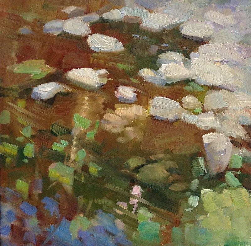 """Sweet Creek Confetti"" original fine art by Patti McNutt"