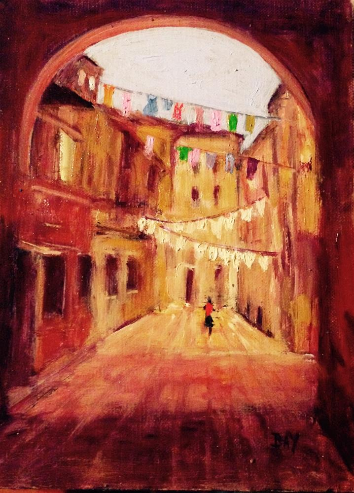 """Laundry day 2 - Venice "" original fine art by barbara yongue"
