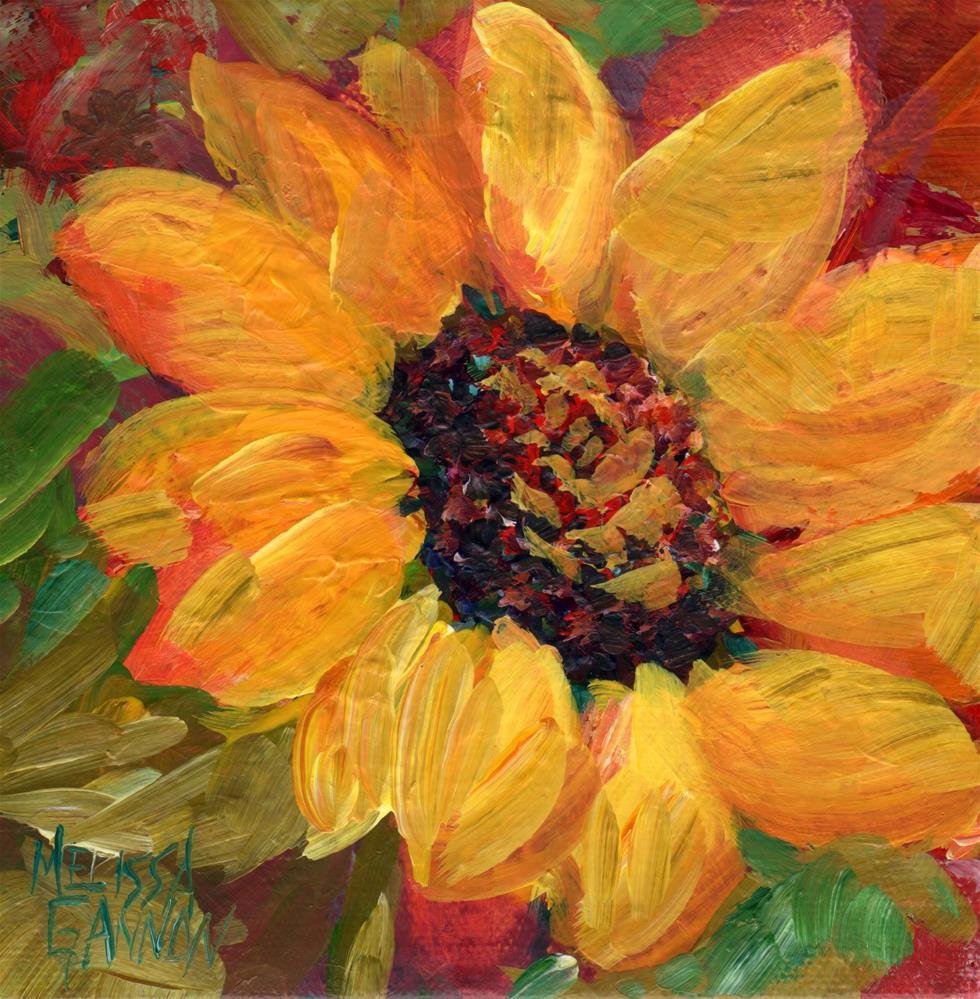 """Petaled Sunshine"" original fine art by Melissa Gannon"