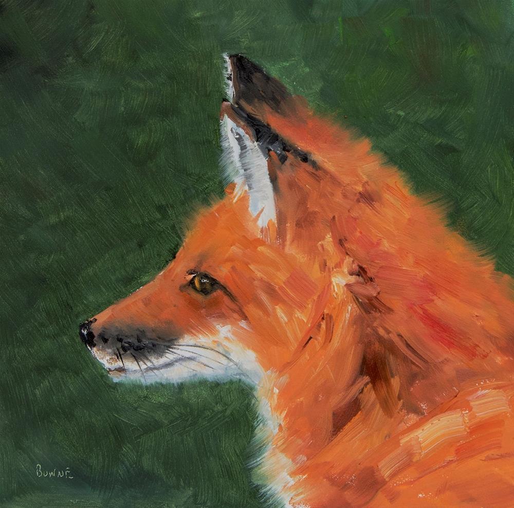"""""""Foxy Lady"""" original fine art by Bonnie Bowne"""