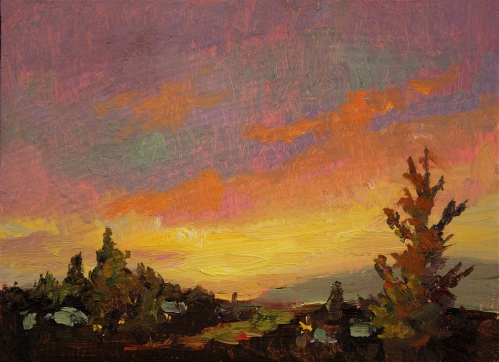 """""""HILLSIDE SUNRISE"""" original fine art by Karen E Lewis"""