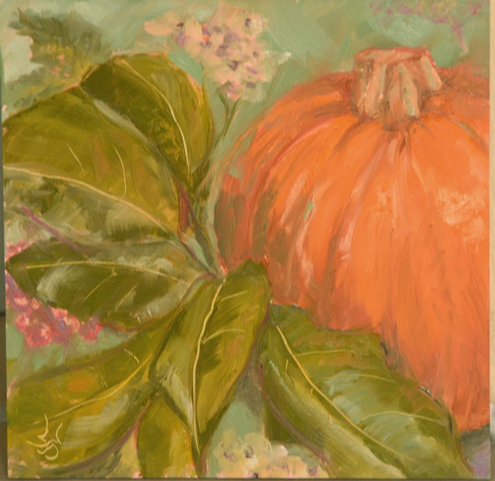 """Pumpkin Painting Two"" original fine art by Jan Jackson"