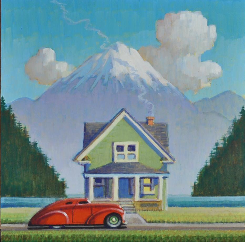 """Cottage"" original fine art by Robert LaDuke"