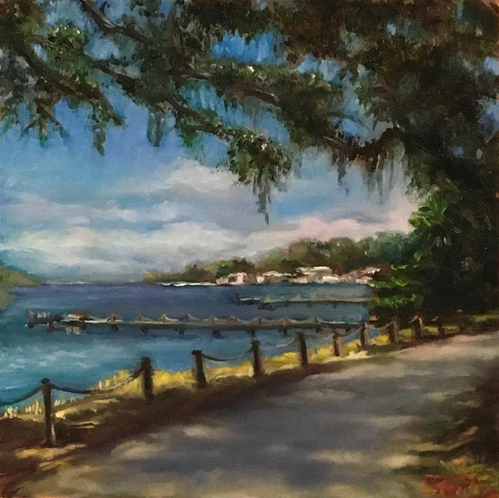 """Walk by the Anclote River"" original fine art by Vana Meyers"
