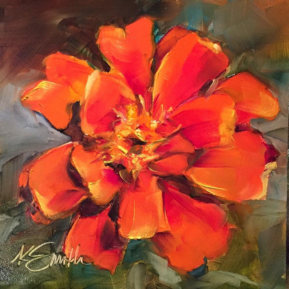 """marigold"" original fine art by Kim Smith"