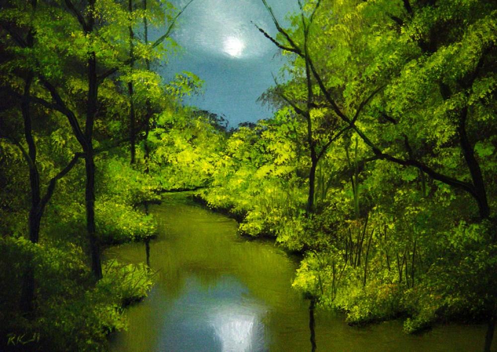 """Romantic River"" original fine art by Bob Kimball"