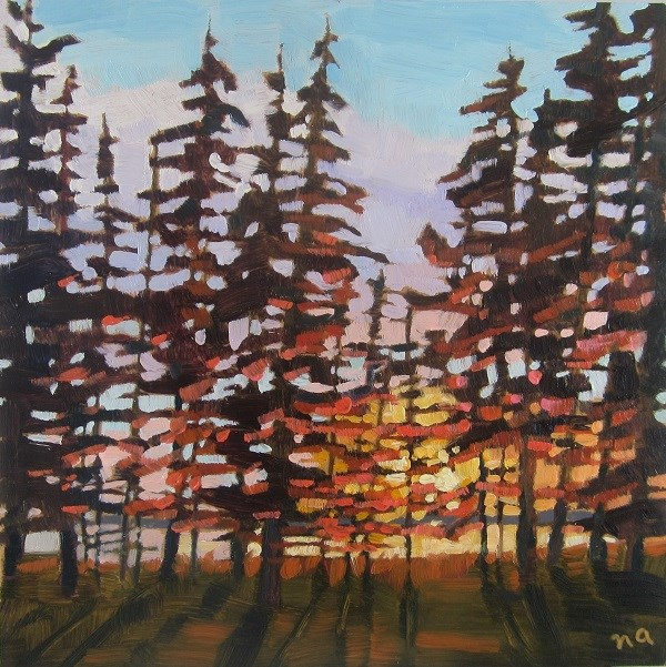 """""""Collecting The Light"""" original fine art by Nicki Ault"""