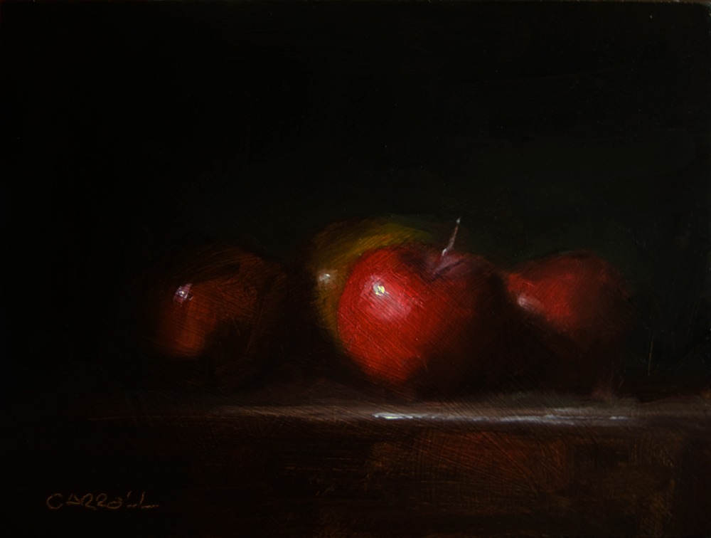 """Apples"" original fine art by Neil Carroll"