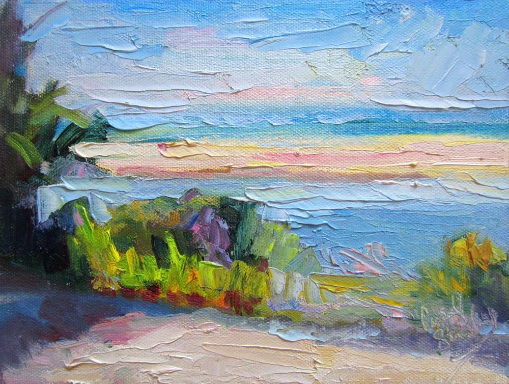 """Malibu Lagoon at Noon"" original fine art by Carol Steinberg"